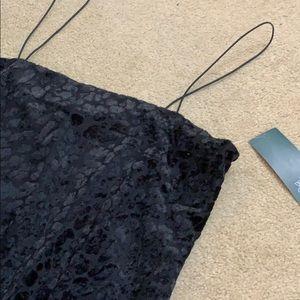 NWT Black Leopard Velvet Dress